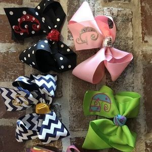 Other - Hair Bows with initial G